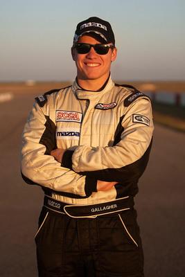 2012 Shootout winner Patrick Gallagher.  (PRNewsFoto/Mazda Motorsports)