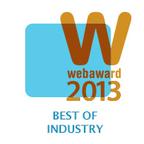 "2013 WebAwards ""BEST ADVERTISING WEBSITE""  (PRNewsFoto/LIQWID)"