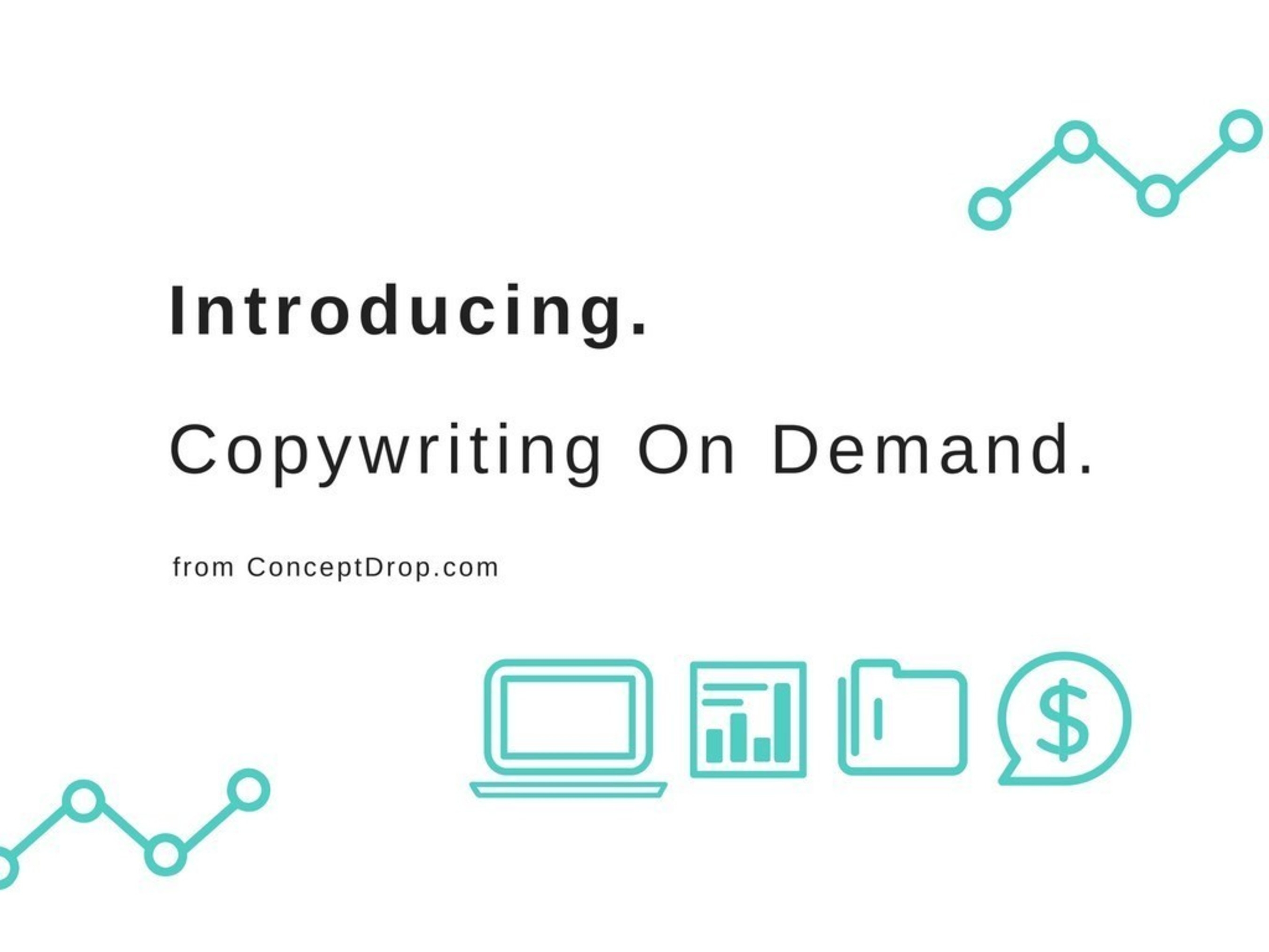 ConceptDrop Introduces Copywriting On Demand