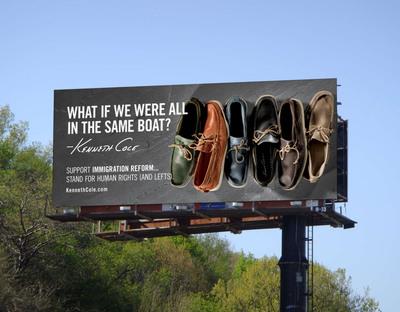 Kenneth Cole's new billboard.  (PRNewsFoto/Kenneth Cole)