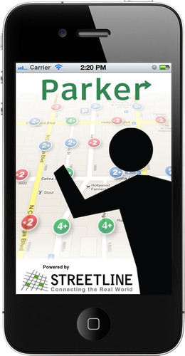 The next generation of Parker, the award-winning smart parking app by Streetline, Inc.  (PRNewsFoto/Streetline,  ...