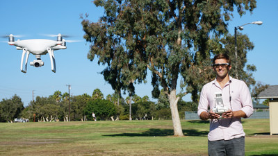 DJI Drone and BT-300, allows line-of-site while monitoring camera footage and telemetry data.