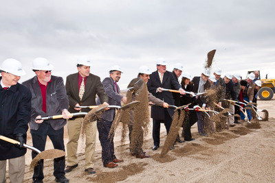 "Chobani CEO & Founder Hamdi Ulukaya (center) was joined by Idaho Governor C.L. ""Butch"" Otter, Idaho Lt. Governor Brad Little, Twin Falls Mayor Don Hall, other local dignitaries and Chobani executives in a groundbreaking ceremony at the site of Chobani's newest factory on Monday, December 19, 2011. Located in Twin Falls, Idaho, the new facility is expected to begin production in the second half of 2012 and bring nearly 400 new jobs to the community.  (PRNewsFoto/Chobani)"