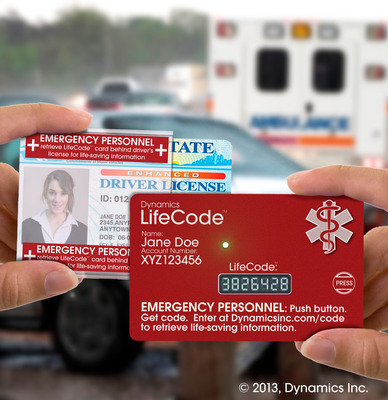 Dynamics Inc. launches LifeCode card.  (PRNewsFoto/Dynamics Inc.)