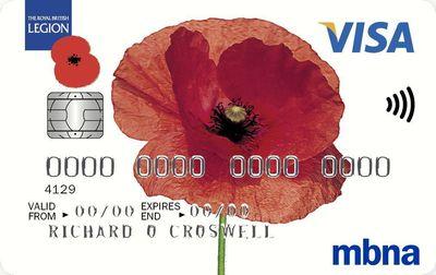 Royal British Legion Credit Card from MBNA (PRNewsFoto/MBNA Limited)