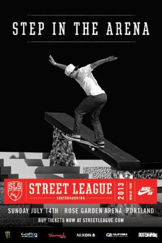 2013 SLS NIKE SB WORLD TOUR ROLLS INTO ROSE GARDEN ARENA IN PORTLAND, OR.  (PRNewsFoto/Street League Skateboarding)