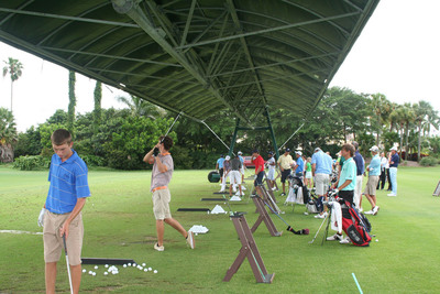 A demo day at BallenIsles with Cleveland Golf and Srixon presents the juniors with an opportunity to try the latest in golf equipment ahead of the tournament.  (PRNewsFoto/BallenIsles Country Club)