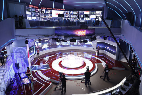 An overall view of Beijing Radio & Television Network's studio. (PRNewsFoto/Beijing Radio & Television Network) (PRNewsFoto/BEIJING RADIO & TELEVISION NE...)