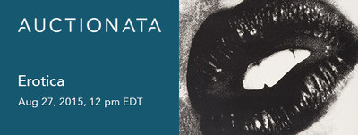 Auctionata's first Erotica Auction on August 27, 2015, 12 PM EDT
