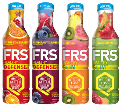 The FRS Company Unveils Healthy Slim(TM) and Healthy Defense(TM) beverages.  (PRNewsFoto/The FRS Company)