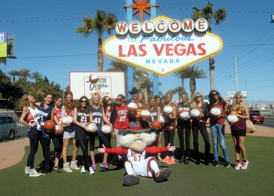The models of Sports Illustrated Swimsuit salute the NCAA basketball conference championships coming to Las Vegas.
