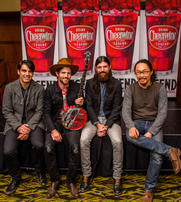 The Avett Brothers are partnering again with iconic soft drink brand Cheerwine for Legendary Giveback 3, a charity concert to take place Dec. 13 at The House of Blues in Myrtle Beach, S.C. This year's event, to be streamed around the world by Yahoo Live, will benefit St. Jude's Children's Research Hospital, Kids First of the Carolinas and the Lowcountry Food Bank. (PRNewsFoto/Cheerwine)