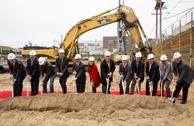 Associated Estates and its investment and development partners joined San Francisco dignitaries for a groundbreaking ceremony at the Company's 350 8th Apartments in the South of Market (SoMa) neighborhood. Photo by: Rebecca Wilkowski Photography