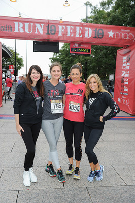 Women's Health Editor-in-Chief Amy Keller Laird, FEED Foundation founder Lauren Bush Lauren, ABC Good Morning America's Chief Meteorologist Ginger Zee, and Women's Health Publisher Laura Frerer-Schmidt at the 5th annual RUN 10 FEED 10 race in New York City on September 18, 2016.