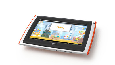 MEEP! X2 from Oregon Scientific offers a slimmer, fully upgraded tablet designed just for kids! Features include an updated, colorful new design, popular, pre-loaded content, Bluetooth connectivity and more!.  (PRNewsFoto/Oregon Scientific)