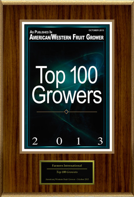 "Farmers International, Inc Selected For ""Top 100 Growers"".  (PRNewsFoto/Farmers International, Inc)"