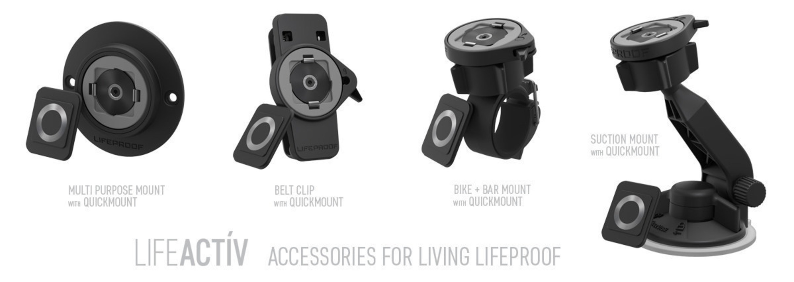 LIFEACTIV universal accessories from LifeProof available now on lifeproof.com.