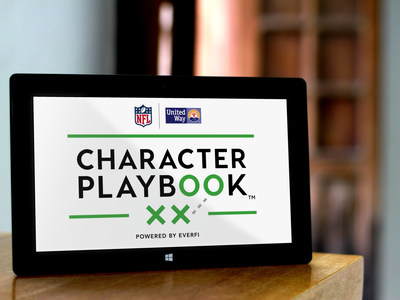 The NFL and United Way Worldwide are proud to launch Character Playbook(TM), a national education initiative focused on youth character development and healthy relationships. The initiative is funded by the NFL Foundation, United Way Worldwide and powered by EverFi, the education technology leader that currently works in more than 13,000 K-12 schools and 800 colleges and universities.