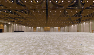 The 8,000-square-meter Jinji Lake banquet hall