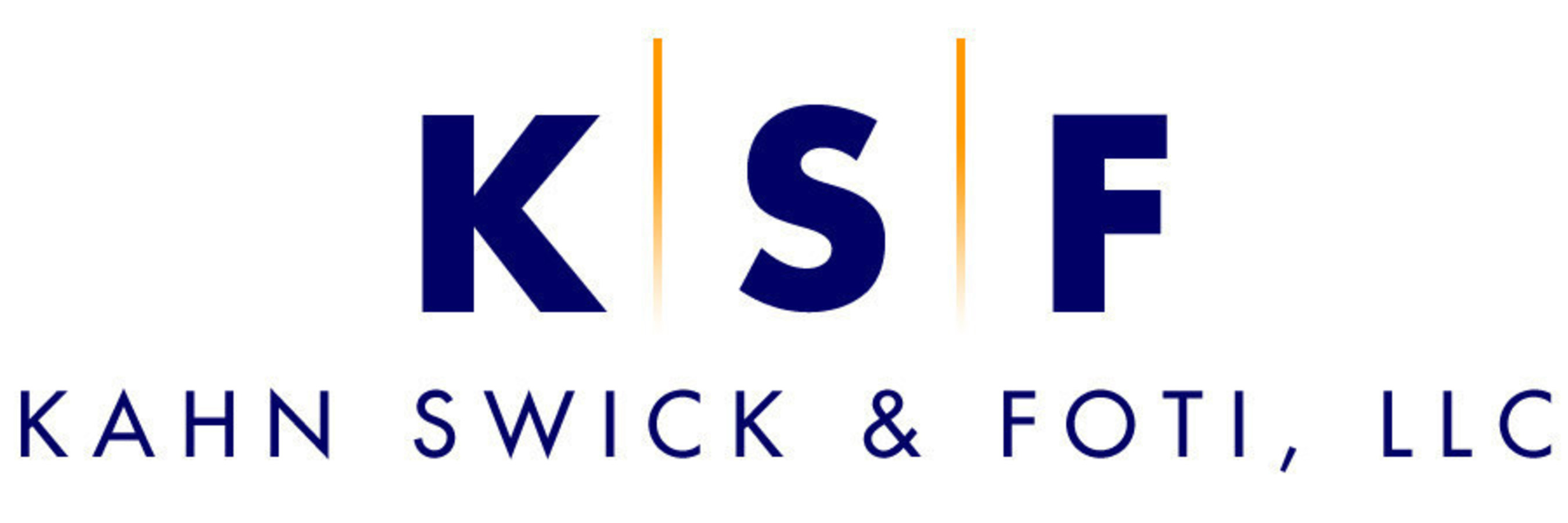 "Kahn Swick & Foti, LLC (""KSF"") - - not all law firms are created equal. Visit www.ksfcounsel.com to learn more about KSF."