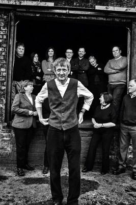 Jim Beveridge master blender for Johnnie Walker pictured with his blending team (PRNewsFoto/Diageo GTME)