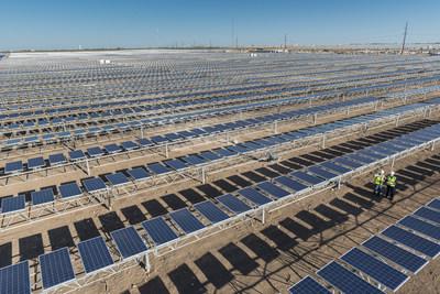 Alamo 4 Solar Farm (39 MW) in Brackettville, Texas, by OCI Solar Power and Mortenson Construction (PRNewsFoto/OCI Solar Power)