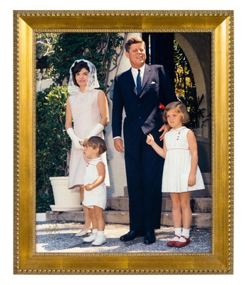 This iconic photo of the Kennedy family on Easter Sunday was taken by Bob Davidoff in Palm Beach and will be sold on January 23 at Leslie Hindman Auctioneers' Property from the Winter White House auction. This is one of many highlights from the Kennedy estate in Palm Beach that will be on the auction block. Other highlights include the beds that John and Jackie Kennedy slept in, the Kennedy family dining room table and the massage table where JFK received therapeutic treatments for his back ailments.