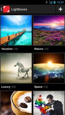 Screenshot from Shutterstock's new app for Android. (PRNewsFoto/Shutterstock Inc.)