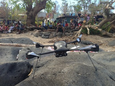 Following the devastation of Cyclone Pam, the World Bank and the Vanuatu Government called upon Australian unmanned aerial system (UAS) operator Heliwest, who deployed Lockheed Martin's Indago small UAS to conduct a rapid damage assessment. (Photo Credit: Heliwest)