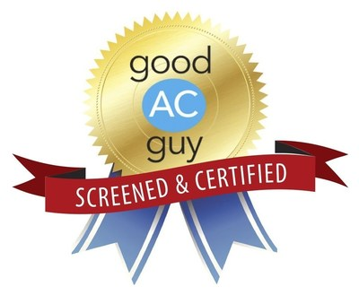 Air conditioning and heating pros who have passed the screening process receive this Good AC Guy seal.