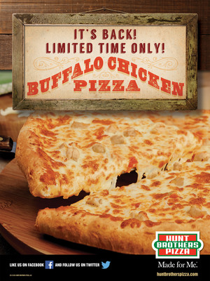 Hunt Brothers Pizza brings the heat this summer with return of Buffalo chicken pizza.  (PRNewsFoto/Hunt Brothers Pizza)