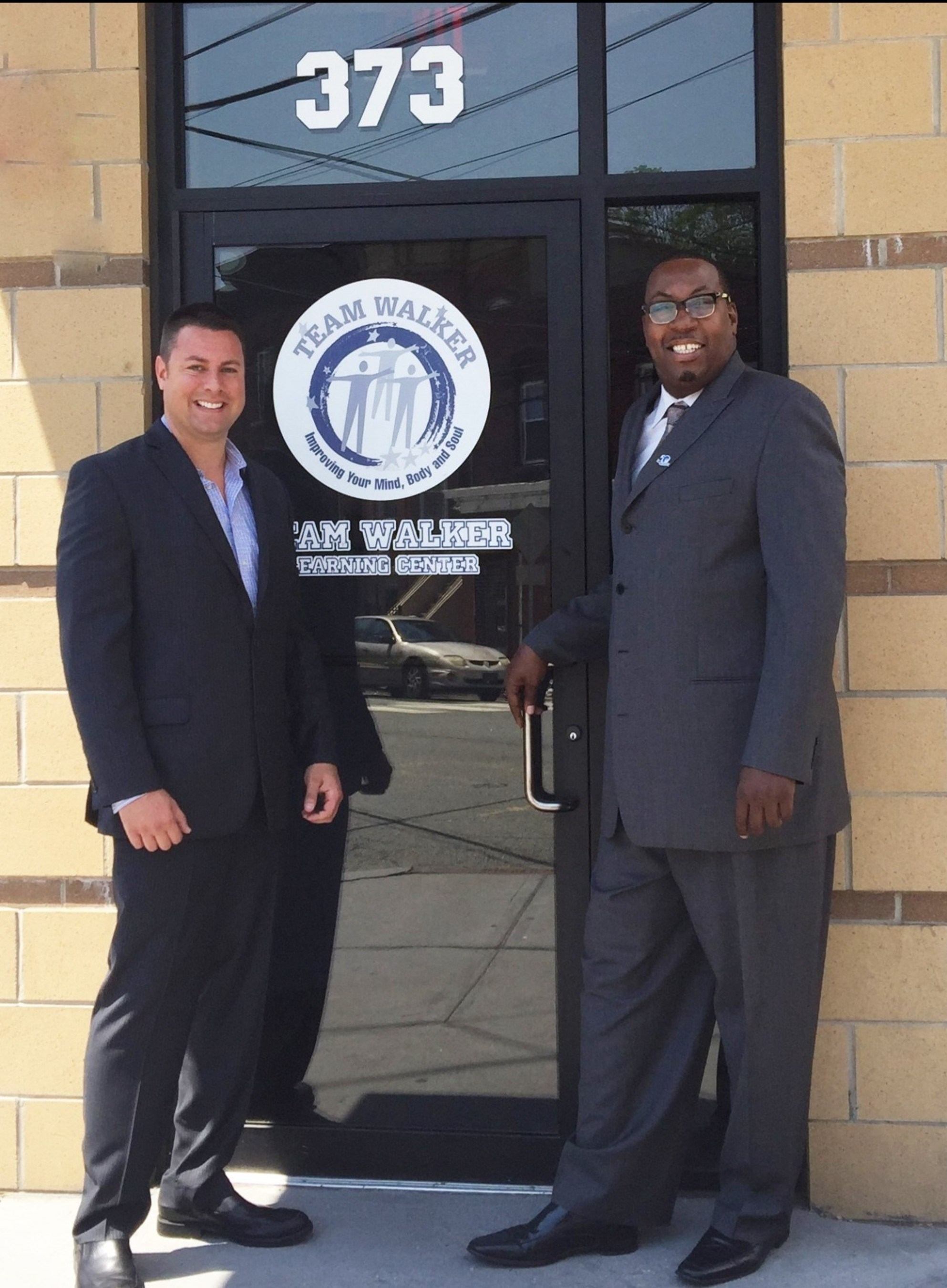 Craig McGraw and President Jerry Walker at the Team Walker House Jersey City NJ