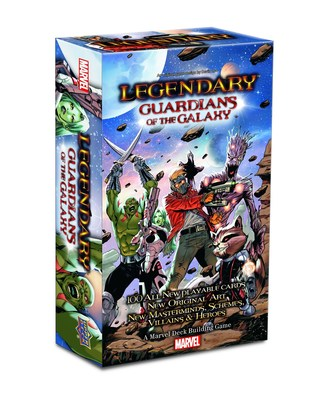 Upper Deck releases a new expansion for the company's popular Legendary Deck Building Game for Guardians of the Galaxy. Do battle against evil with Star-Lord, Gamora, Drax the Destroyer, Groot and Rocket Raccoon! (PRNewsFoto/Upper Deck)