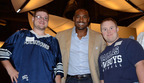 Darren Woodson, Max Adamczyk and Addison McLemore.  (PRNewsFoto/The Warren Center)