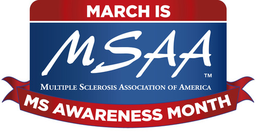 MSAA's March is MS Awareness Month Logo. Please right click to save file and add it to your social media profile.  (PRNewsFoto/Multiple Sclerosis Association of America)