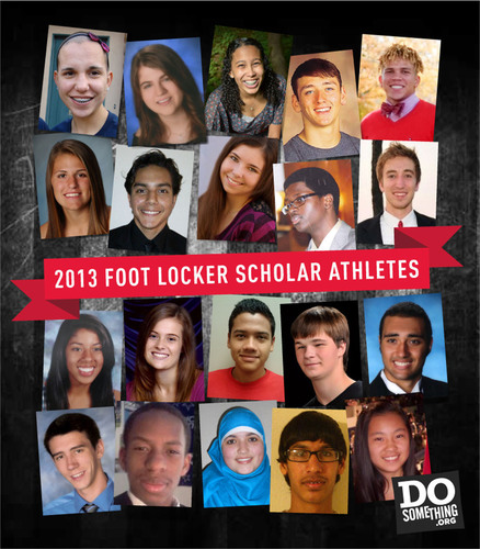 2013 Foot Locker Scholar Athletes.  (PRNewsFoto/DoSomething.org)