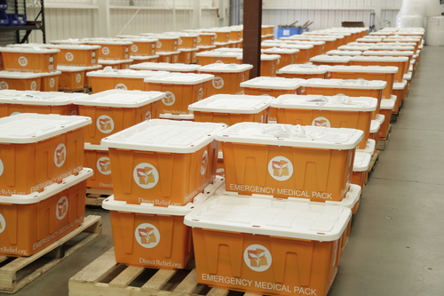 Direct Relief's Hurricane Preparedness Packs, which comprise more than $1 million in medical resources, are  ...