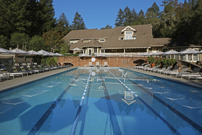 Lap pool at Meadowood Napa Valley.  (PRNewsFoto/Meadowood Napa Valley)