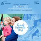 To promote Family Volunteer Day, generationOn developed a series of creative ads, such as this image for Facebook, that demonstrate the time it takes to do good for others, by comparing the time to everyday activities.