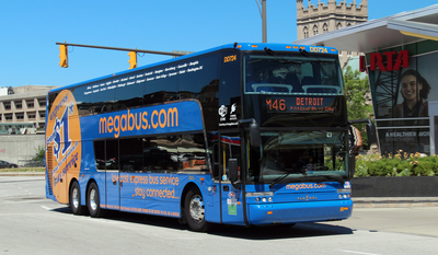 Megabus.com, the popular city-to-city, express bus company with fares from $1, has served 30 million passengers across North America as of today. With fares starting as low as $1, megabus.com has expanded rapidly over the course of its seven-year existence, from serving seven cities to/from Chicago in April 2006 to now serving more than 100 cities across North America.  (PRNewsFoto/Megabus.com)
