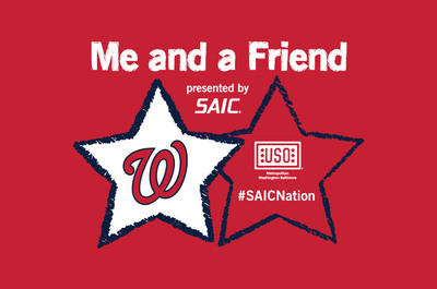"SAIC will also co-sponsor a hospitality area for every Sunday home game in support of the Nationals' ""Me and a Friend"" program.  (PRNewsFoto/SAIC)"