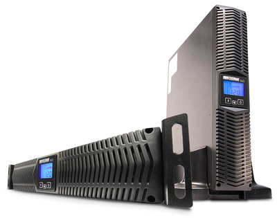 EnterprisePlus LCD Model E750RTXL2U Rack & Tower Angle.  (PRNewsFoto/Minuteman Power Technologies)