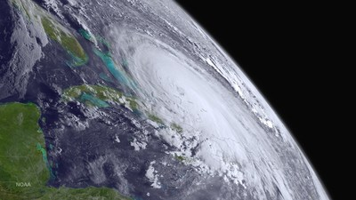 Hurricane Joaquin threatens to bring severe weather to the U.S. East Coast. The AVMA is urging residents to include pets and other animals in their disaster preparedness and evacuation plans. Photo courtesy: NOAA