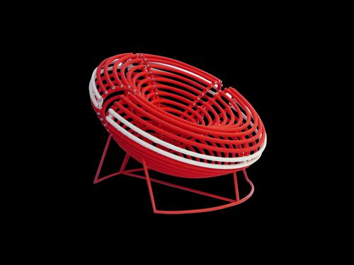Matos' Poltrona Balaio chair, inspired by Brazilian market baskets (PRNewsFoto/BE OPEN)