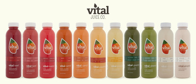 Vital Juice 100% organic, cold-pressed juices are now available nationwide on Amazon.com.  (PRNewsFoto/Vital Juice)