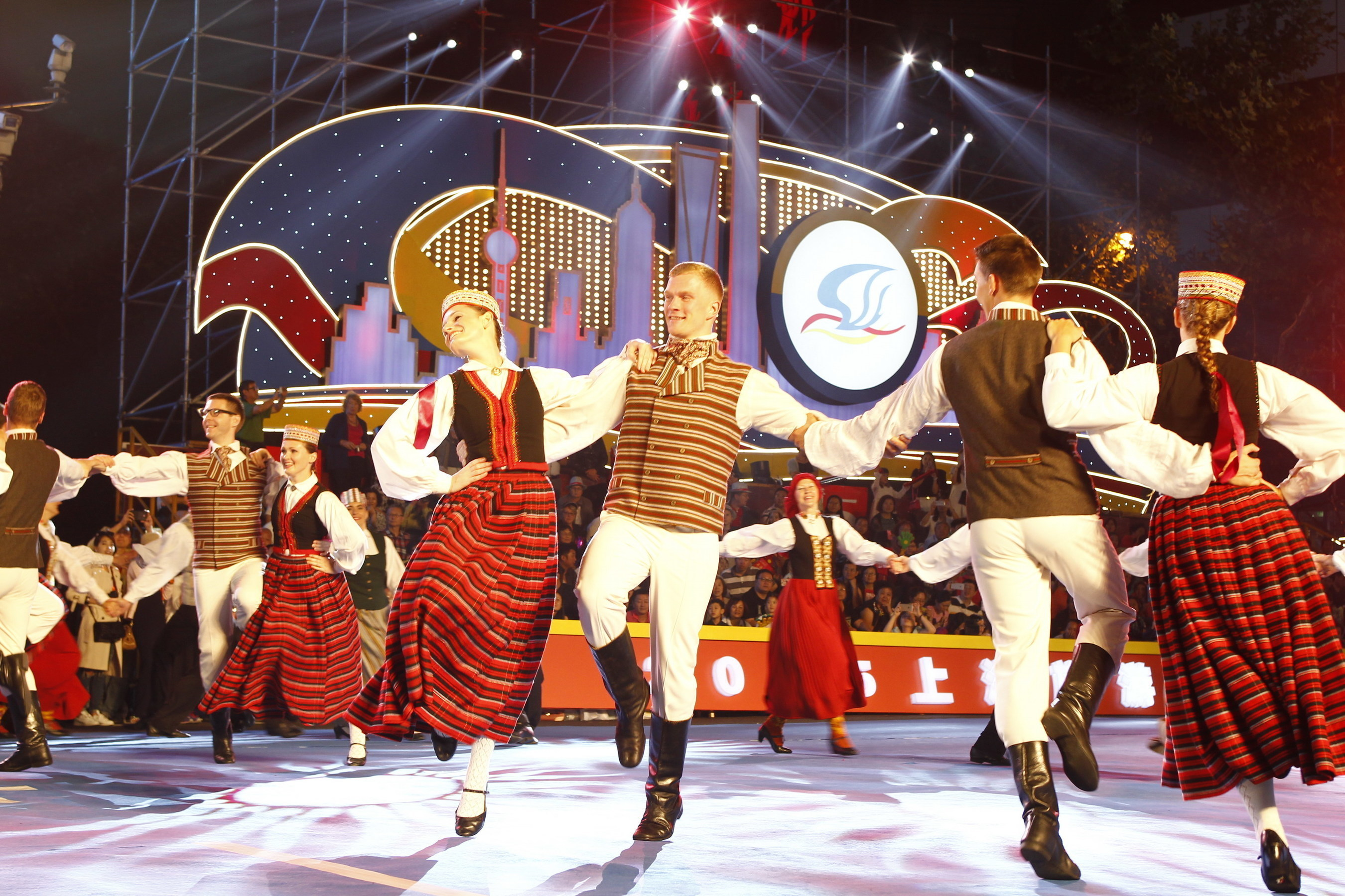The folk dance performance group from Latvia