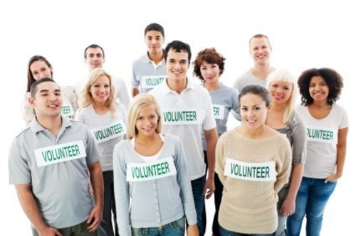 Portrait of a volunteers Diverse Group of People. They standing together and looking at the camera. Isolated on white background. [url=http://www.istockphoto.com/search/lightbox/9786738][img]http://dl.dropbox.com/u/40117171/group.jpg[/img][/url] ...