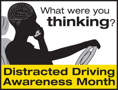 NSC Distracted Driving Awareness Month web icon.