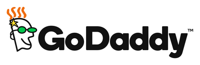 GoDaddy logo.