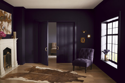 """Lowe's: 4010-2 Twilight Purple/ Ace: VR089A Black Currant/ Independent Retailers: V125-6 Black Currant/ This deep violet black has a powerful influence, symbolizing the mainstreaming of meditation and mindfulness as a way to get in touch with our inner senses. """"The violet undertone in this midnight black gives it a distinct personality - dark, decorative and a bit moody,"""" said Kim."""